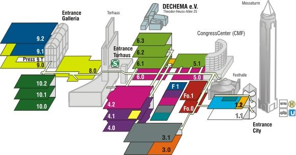 Messe frankfurt plan